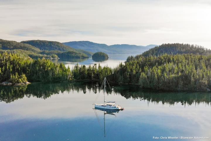 Segeln bei Haida Gwaii