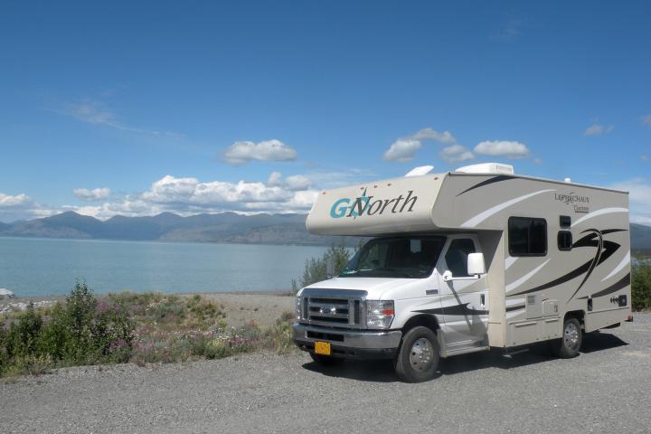 Camperüberführung im Sommer